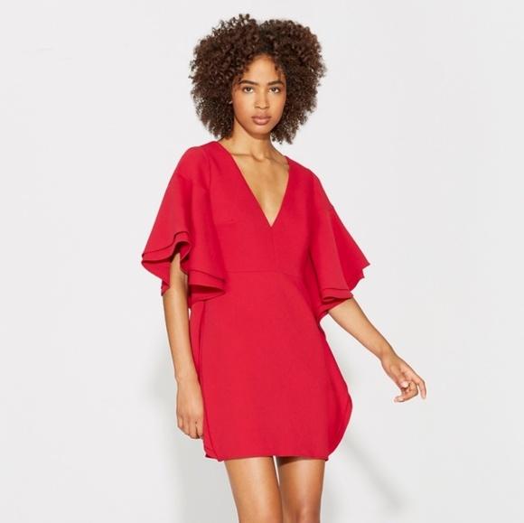 04052ee4f268 Halston Heritage Dresses   Flounce Sleeve Crepe Dress   Poshmark